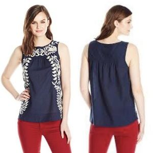 Lucky Brand Embroidered Boho Swing Tank